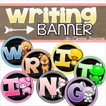 Writing Banner Classroom Decoration Bulletin Board Farm Animals Theme