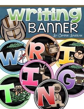 Writing Banner Classroom Decoration Bulletin Board Jungle Safari Theme