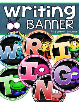 Writing Banner Classroom Decoration Bulletin Board Monster Theme