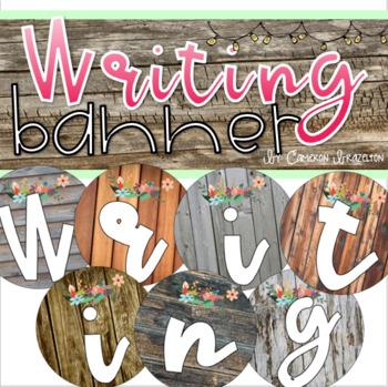 Writing Banner Classroom Decoration Bulletin Board Rustic Farmhouse Shabby Chic