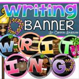 Writing Banner Classroom Decoration Bulletin Board Tropical Tiki Luau Theme