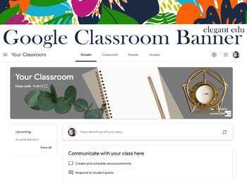 Writing Google Classroom Banner/ Add your own name