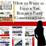 Writing: Basic Essay & Research Paper Bundled Units!