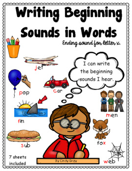 Writing Beginning Consonant Sounds in Words