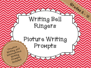 Writing Bell Ringers - Picture Writing Prompts