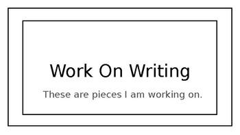 Writing Binder Labels
