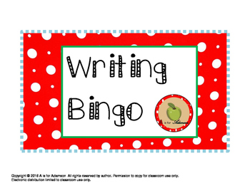 Writing Bingo