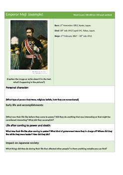 Writing Biographies of Japanese Shogun Year 8 (Tokugawa, Nobunaga, Hideyoshi)