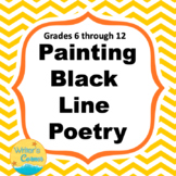 Visual Art Painting: Black Line Poetry, Fun Stuff, Exit Pass