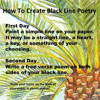 Visual Art Painting: Black Line Poetry, Fun Stuff, Exit Pass
