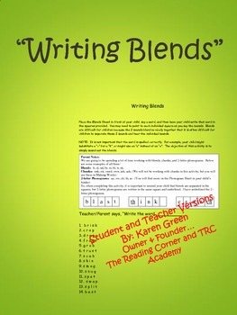Writing Blends