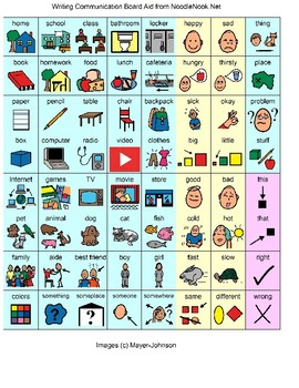 Writing Board for Emergent Writers- Visual Support for Autism Units & LIFE Skill