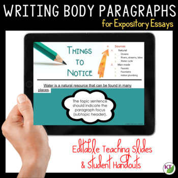Writing Body Paragraphs from Outlines