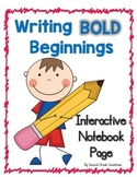 Writing Bold Beginnings: An Interactive Notebook Page for Writing Strong Leads