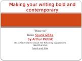 Writing Boldly: Spunk and Bite