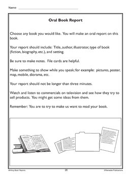 Writing Book Reports