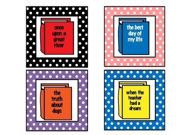 Writing Book Titles Center FREEBIE OF THE WEEK!