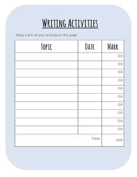 Writing Booklet Graphic Organizer for Paragraphs