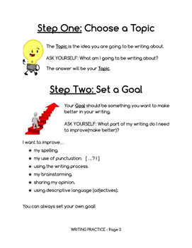 Writing Booklet Graphic Organizer for Simple Paragraphs