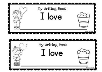 Writing Booklet - I love - 5 Days of Activities - Valentine's Day