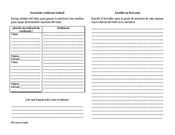 Writing Booklets (Spanish)Unidades 1-10 Grado 4-Benchmark Adelante