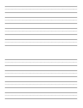 Writing Booklet with Handwriting Lines