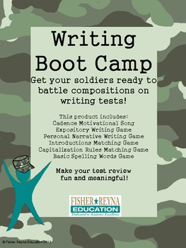 Writing Boot Camp Test Prep for Compositions Elementary - Secondary