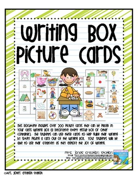Writing Box Picture Cards