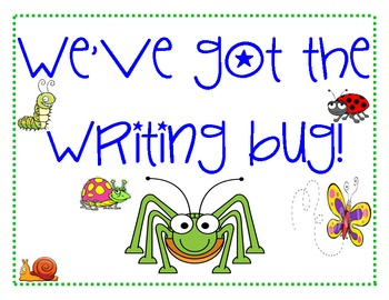 Writing Bug Writing Process Posters