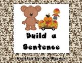 Writing: Build a Sentence K-2
