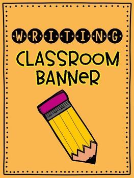 Writing Bulletin Board Bunting FREEBIE