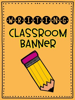 Writing Bulletin Board Bunting FREEBIE
