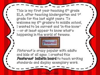 Writing Bulletin Board (Penterest Bulletin Board)
