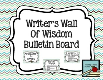 Writing Bulletin Board for Secondary Classrooms