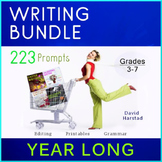 Writing Bundle: 223 Year-Long Printable Prompts (Grades 3-7)