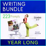 Writing Bundle: 223 Year-Long Printable Prompts (Grades 3-7)