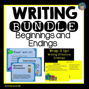 Writing Bundle Beginnings Leads And Endings By Catfan S Corner TpT