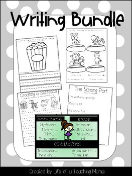 Growing Writing Bundle - Paragraphs, Opinion Writing, Narrative Writings, & More