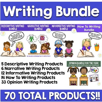 Writing Bundle Descriptive, How To, Informative, Narrative, and Opinion