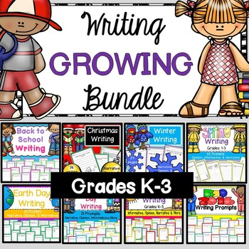 Writing Prompts Bundle (CCSS Informative, Opinion, Narrati
