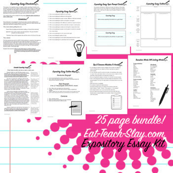 Writing Bundle Kit Expository Persuasive PEEL ACE Graphic Organizers