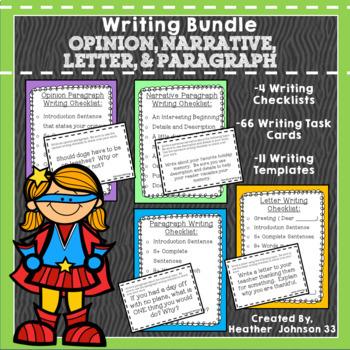 Opinion, Paragraph, Letter, Narrative: Writing Bundle