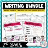 Writing Bundle: Personal Narrative, Informational, Opinion & Fiction 2ND GRADE