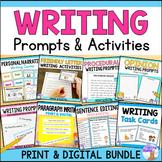 Writing Bundle - Print & Digital Distance Learning
