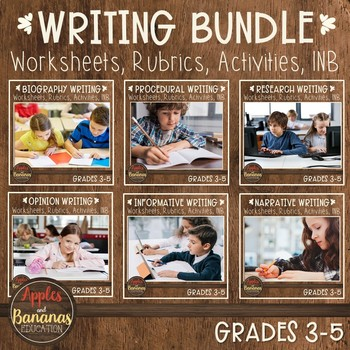 Writer's Workshop Bundle-CCSS (Grades 3-5)