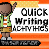 Writing Activities!
