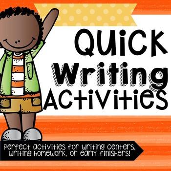 Writing Activities!