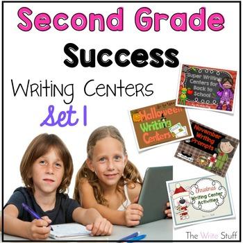 Second Grade Success: Writing Center Bundle {BTS-Dec}
