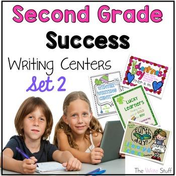 Second Grade Success Writing Center Bundle Set 2 {January- April}