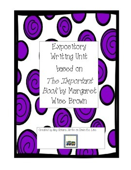 Writing Bundle based around The Important Book